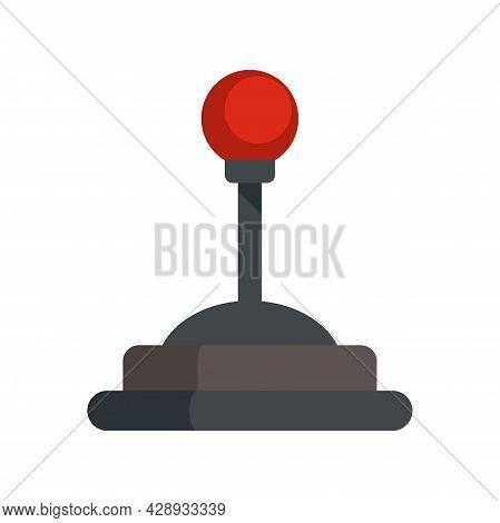 Video Game Joystick Icon. Flat Illustration Of Video Game Joystick Vector Icon Isolated On White Bac