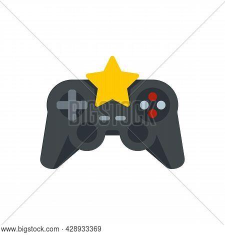 Star Video Game Joystick Icon. Flat Illustration Of Star Video Game Joystick Vector Icon Isolated On