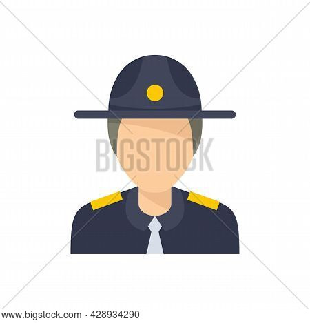Police Officer Icon. Flat Illustration Of Police Officer Vector Icon Isolated On White Background