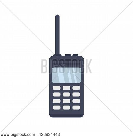 Walkie Talkie Icon. Flat Illustration Of Walkie Talkie Vector Icon Isolated On White Background
