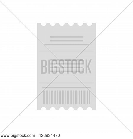 Duty Free Pay Check Icon. Flat Illustration Of Duty Free Pay Check Vector Icon Isolated On White Bac