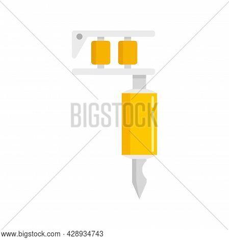 Tattoo Rotary Machine Icon. Flat Illustration Of Tattoo Rotary Machine Vector Icon Isolated On White
