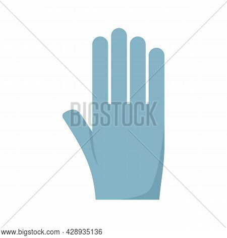 Tattoo Rubber Glove Icon. Flat Illustration Of Tattoo Rubber Glove Vector Icon Isolated On White Bac