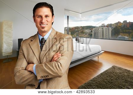 Young businessman at home