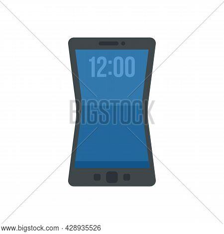 Flexible Screen Element Icon. Flat Illustration Of Flexible Screen Element Vector Icon Isolated On W