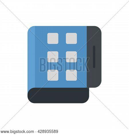 Flex Screen Fold Icon. Flat Illustration Of Flex Screen Fold Vector Icon Isolated On White Backgroun