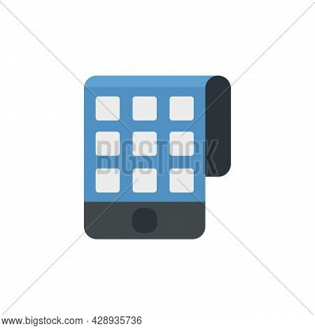 Smart Flexible Screen Icon. Flat Illustration Of Smart Flexible Screen Vector Icon Isolated On White