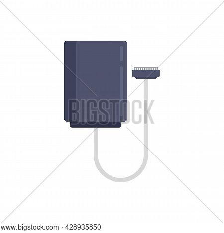 Electric Vehicle Repair Cable Icon. Flat Illustration Of Electric Vehicle Repair Cable Vector Icon I