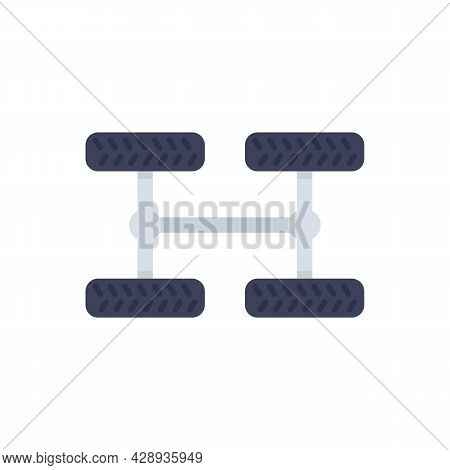 Car Chassis Icon. Flat Illustration Of Car Chassis Vector Icon Isolated On White Background