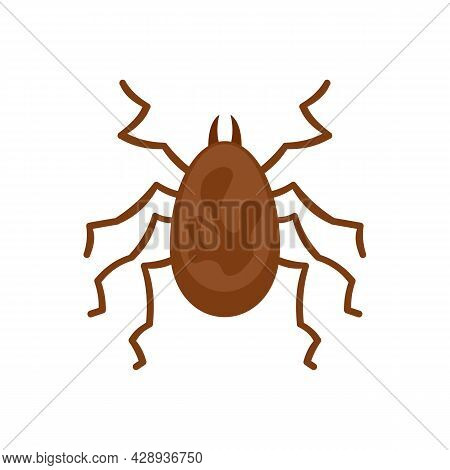 Spider Parasite Icon. Flat Illustration Of Spider Parasite Vector Icon Isolated On White Background