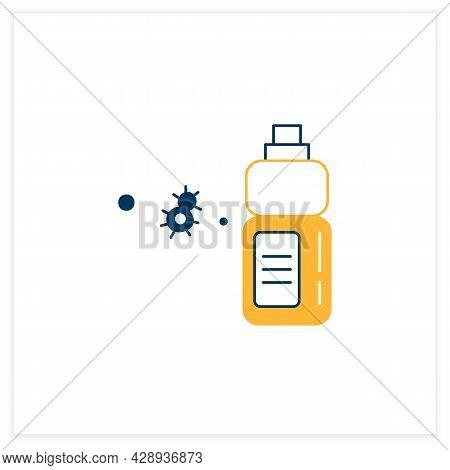 Sanitizer Bottle Flat Icon. Disinfectant Liquid Clean Label Mockup Bottle Line Pictogram. Concept Of