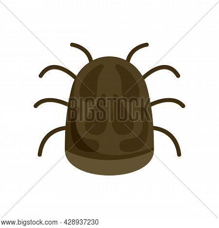 Bug Disease Icon. Flat Illustration Of Bug Disease Vector Icon Isolated On White Background