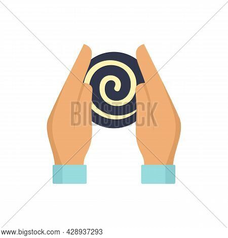 Hypnosis Hands Icon. Flat Illustration Of Hypnosis Hands Vector Icon Isolated On White Background