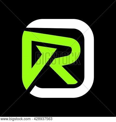 Letter Gr Logo Vector. Logo Initial Gr Design Graphic. Letter Gr Logo Icon Design Template Elements.
