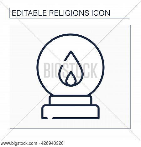 Spiritualism Line Icon.belief That Spirits Of Dead Exist. Afterlife. Spiritualistic Session. Spiritu