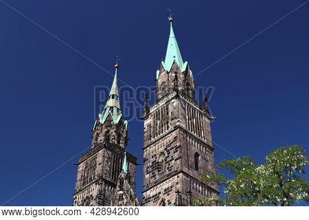 Germany Landmarks. St Lawrence Church (lorenzkirche) - Gothic Landmark Of Nuremberg, Germany.