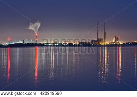 Spectacular Early Morning View Of Dublin Waste To Energy (covanta Plant), Poolbeg Ccgt And Pigeon Ho
