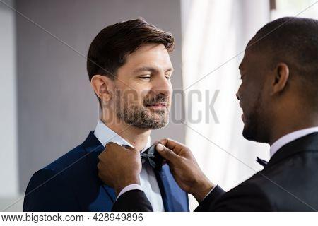 Gay Wedding Or Homosexual Men Marriage. People Relationship