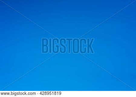 Overview Of A Beautiful Blue Sky In The Summer. Nature.