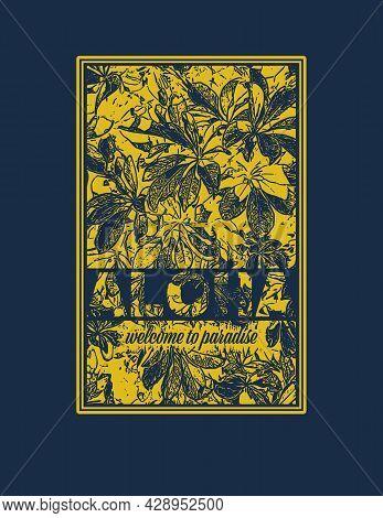 Aloha Hawaii Creative Design Element. Vector Illustration.