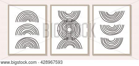 Trendy Contemporary Set Of Abstract Matisse Geometric Minimalist Artistic Hand Painted Woman, Algae,