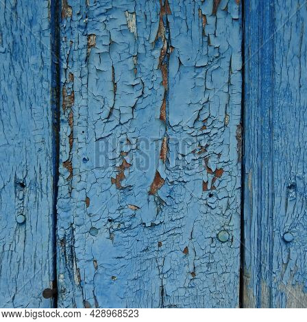 Blue Wooden Background. Light Blue Faded Painted Wood Texture, Background. Wooden Background, Painte