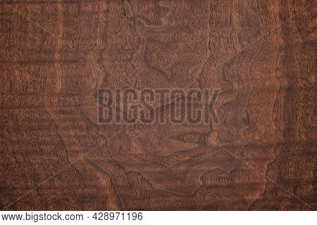 Wood Texture For Furniture Or Interior Design. Dark Wood Background. Brown Wood Texture