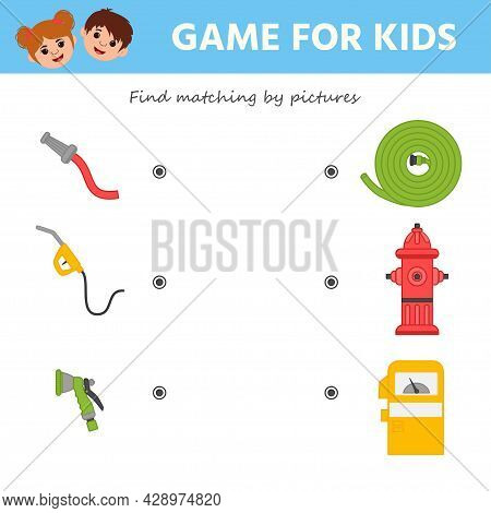 Find Matching By Pictures. A Game For The Development Of Logic For Preschool Children. Preschool Wor