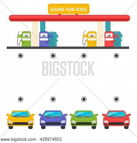Determine On Which Dispenser To Refuel The Car. A Game For The Development Of Logic For Preschool Ch