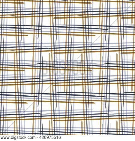Masculine Check Seamless Pattern. Classic Retro Geo Plaid Grid For Digital Scrapbook Paper And Repea