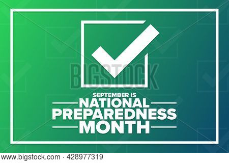 September Is National Preparedness Month. Holiday Concept. Template For Background, Banner, Card, Po
