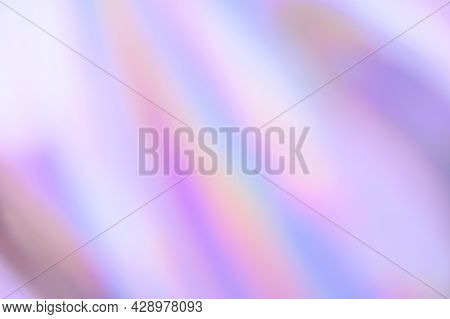 Blurry Abstract Iridescent Holographic Background For Your Design