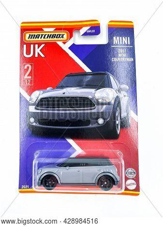 Bangkok Thailand - 29 May 2021: Pack Of Matchbox Model Die-cast Car Model Toy In Pack On White Backg