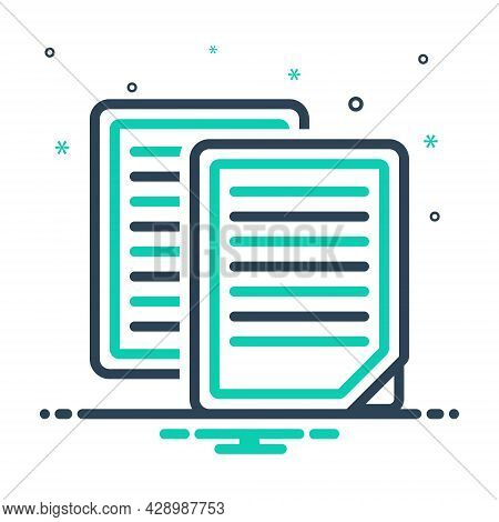Mix Icon For Document Archive Script Evidence Paper Application File