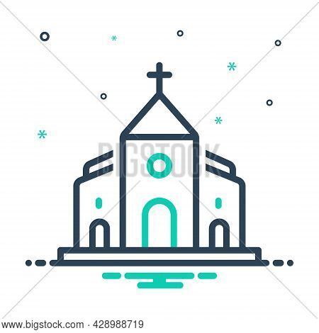 Mix Icon For Church Belief Believe Bible Faith Holy Building Cathalic Religion Traditional
