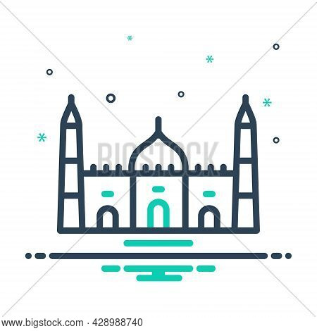 Mix Icon For Mosque Belief Believe Faith Holy Building Catholic Religion Muslim Traditional
