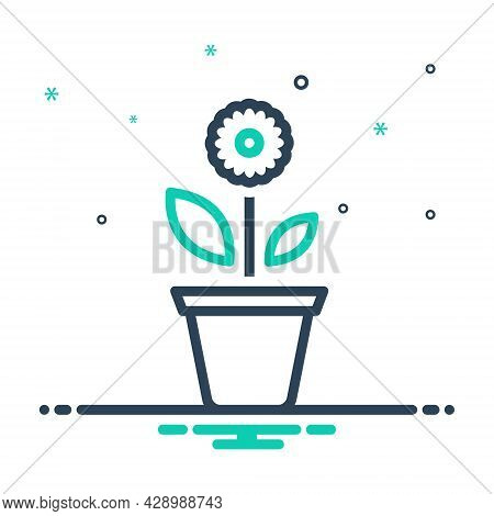 Mix Icon For Plant Foliage Greenstuff Greenery Flora Seedling Botany Herb Nature Gardening Pote Hous