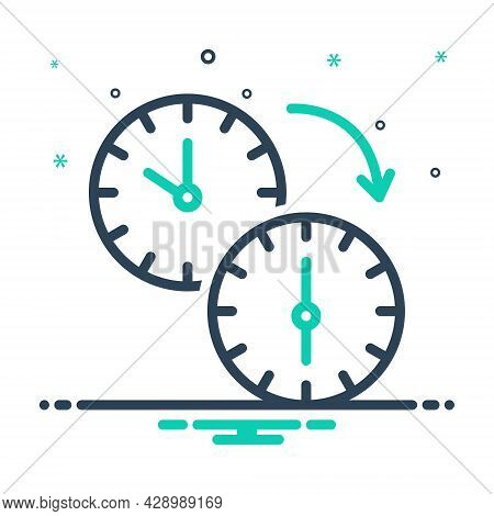 Mix Icon For Change Transformation  Modification Adjustment Variation Watch Move Clock-wise