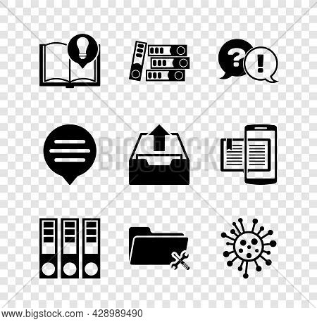 Set Interesting Facts, Office Folders, Question And Exclamation, Folder Service, Bacteria, Speech Bu