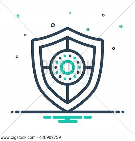 Mix Icon For Shield Safeguard Aegis Escutcheon Bulwark Defense Security Protection Conservancy