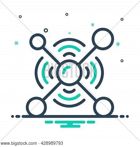 Mix Icon For Network Organization Web Net Grid Cyber Internet Collaboration Interaction