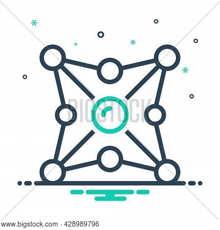 Mix Icon For Networking Network Organization Web Net Grid Cyber Internet Collaboration Interaction