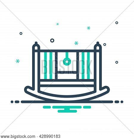 Mix Icon For Rocking-cradle Rocking Cradle Bassinet Baby-bed Crib Comfortable Seesaw Accessory Furni
