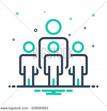 Mix Icon For People Community Crowd Folk Population Horde Citizens Inhabitants Humanity