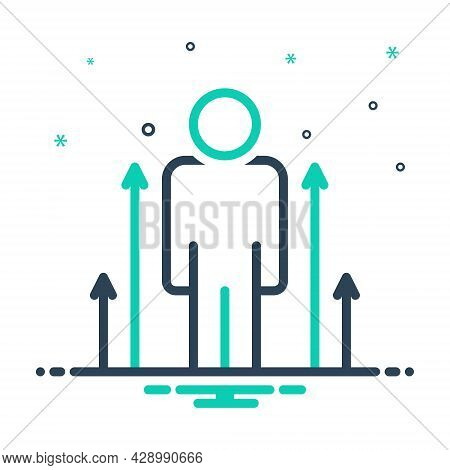 Mix Icon For Personal-development Personal Development Evolution Improvement Expansion Improve Poten