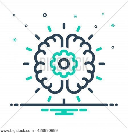 Mix Icon For Brainstorming Deliberate Conceptualize Inspirational Intelligence Innovation Conceptual