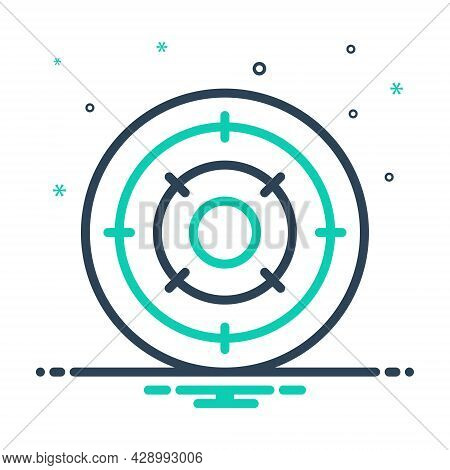 Mix Icon For Objective Purpose Achievement Analysis  Bullseye Challenge Circle Competition