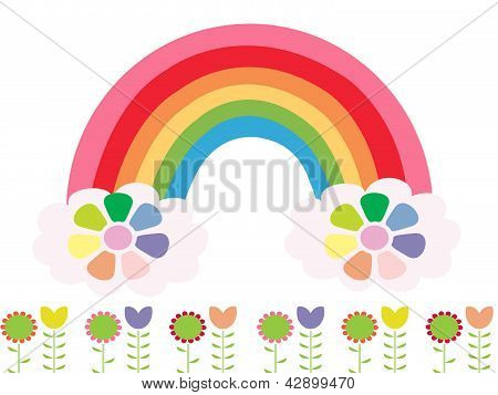 Rainbow spring flower abstraction