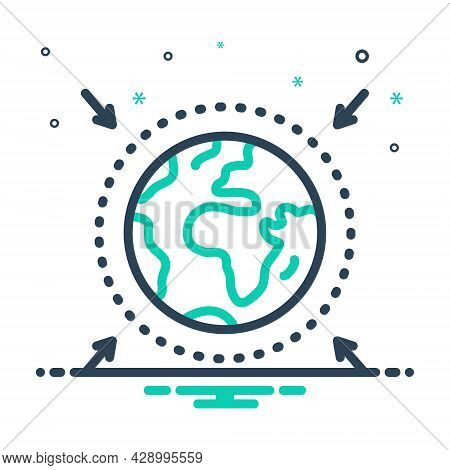Mix Icon For Zone Area Sector Region Scope Realm Locality Glob Earth