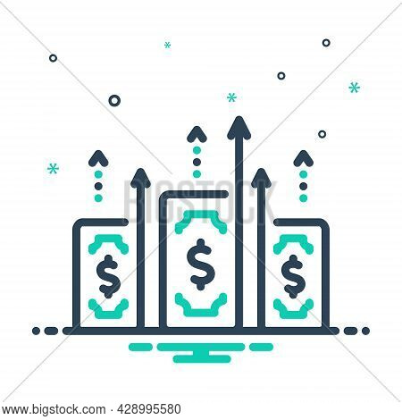 Mix Icon For Gain Expediency Capital Wealth Profit Benefit Increase Growth